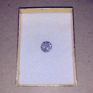 Swarovski Sterling Silver pavé Crystal O pendant